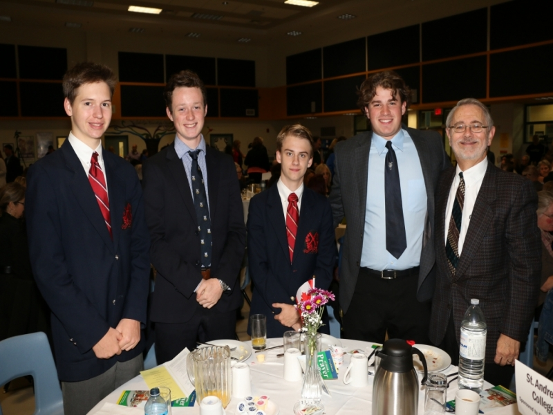 Christian, Malcom, WIlliam, Cayne, Rev. Bruce Roffey of St. Andrews College